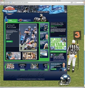Use co-marketing Qwest/Seahawks microsite as hubs to test drive social and mobile engagements.