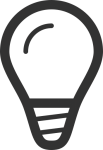 Image of lightbulb introducing samples/artifacts related to design phase from different industries/companies.