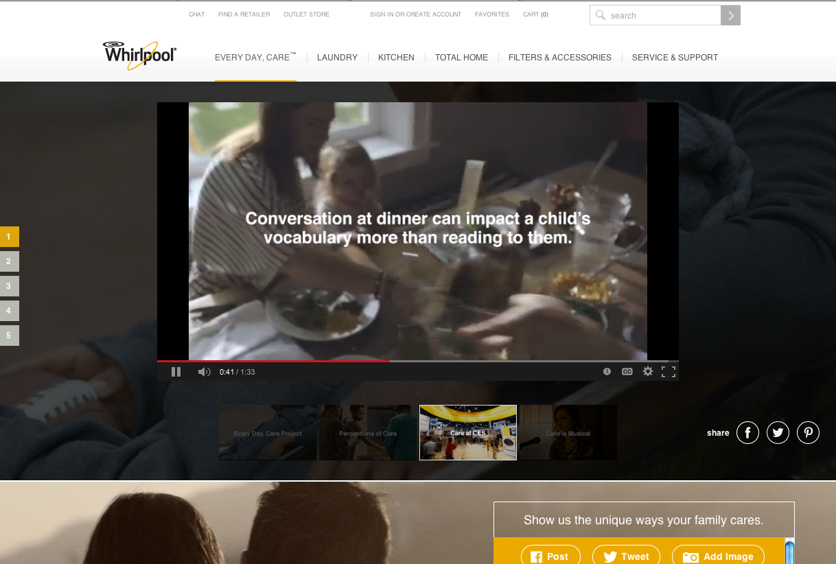 Whirlpool hi-end engagements and CSR connect and foster loyalty in new and unexpected ways.