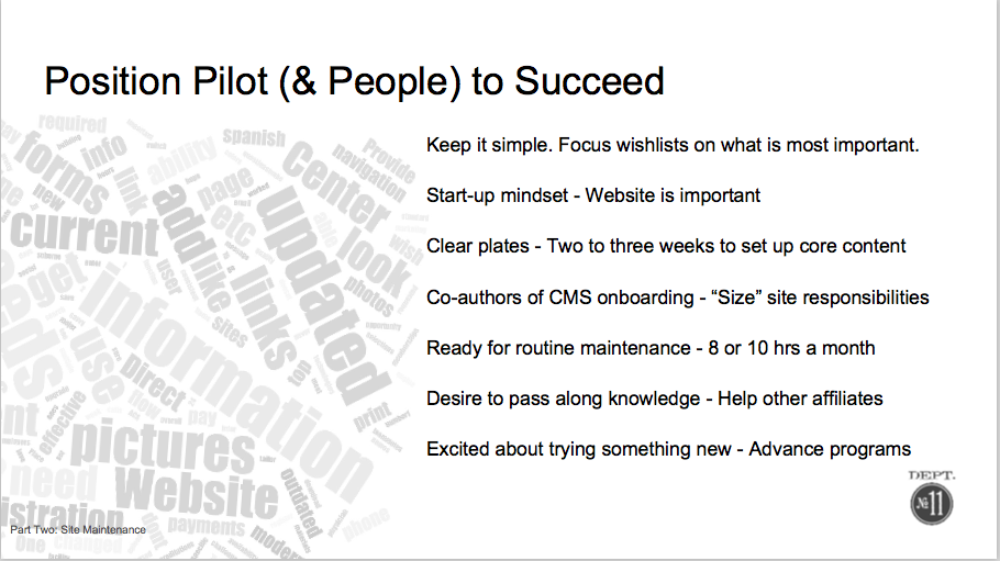 Future requirements for CMS and content ownership surface in survey.